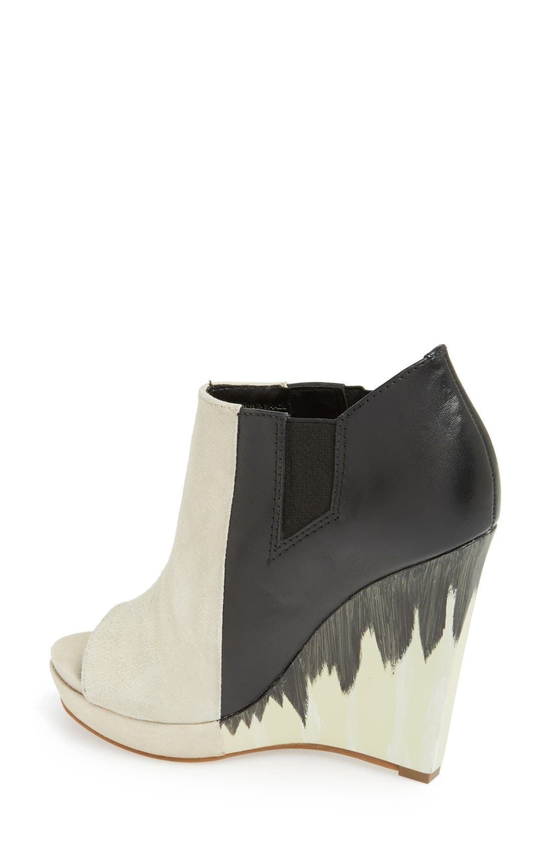 Alternate Image 2  - Derek Lam 10 Crosby 'Gerri' Leather & Suede Open Toe Wedge Bootie