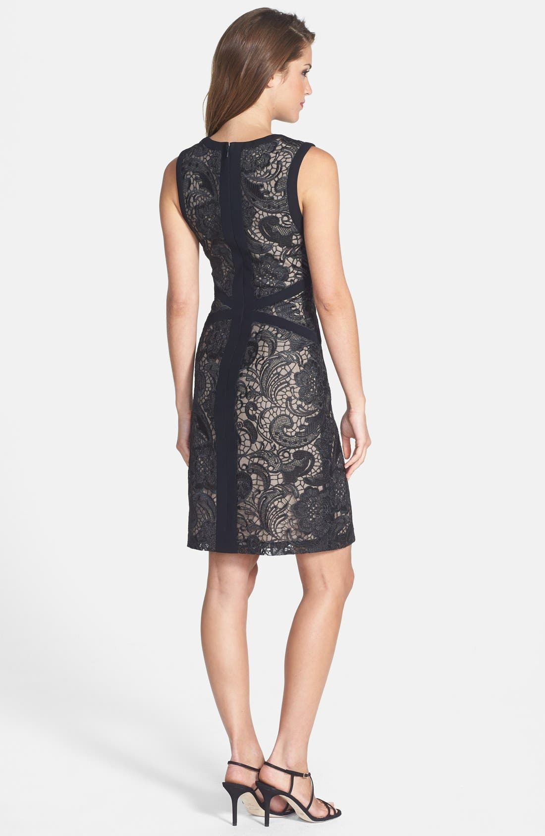 Alternate Image 2  - ML Monique Lhuillier Lace Sheath Dress