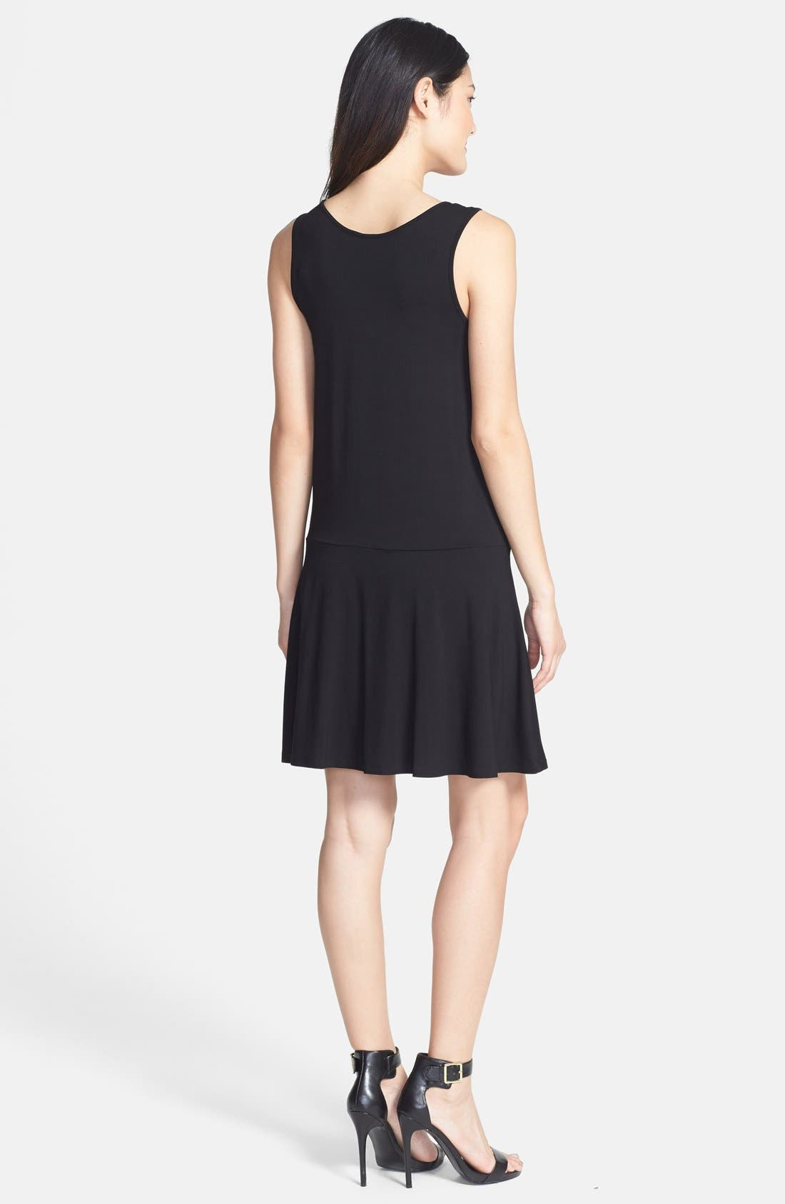 Alternate Image 2  - Vince Camuto Mesh Inset Flare Tank Dress