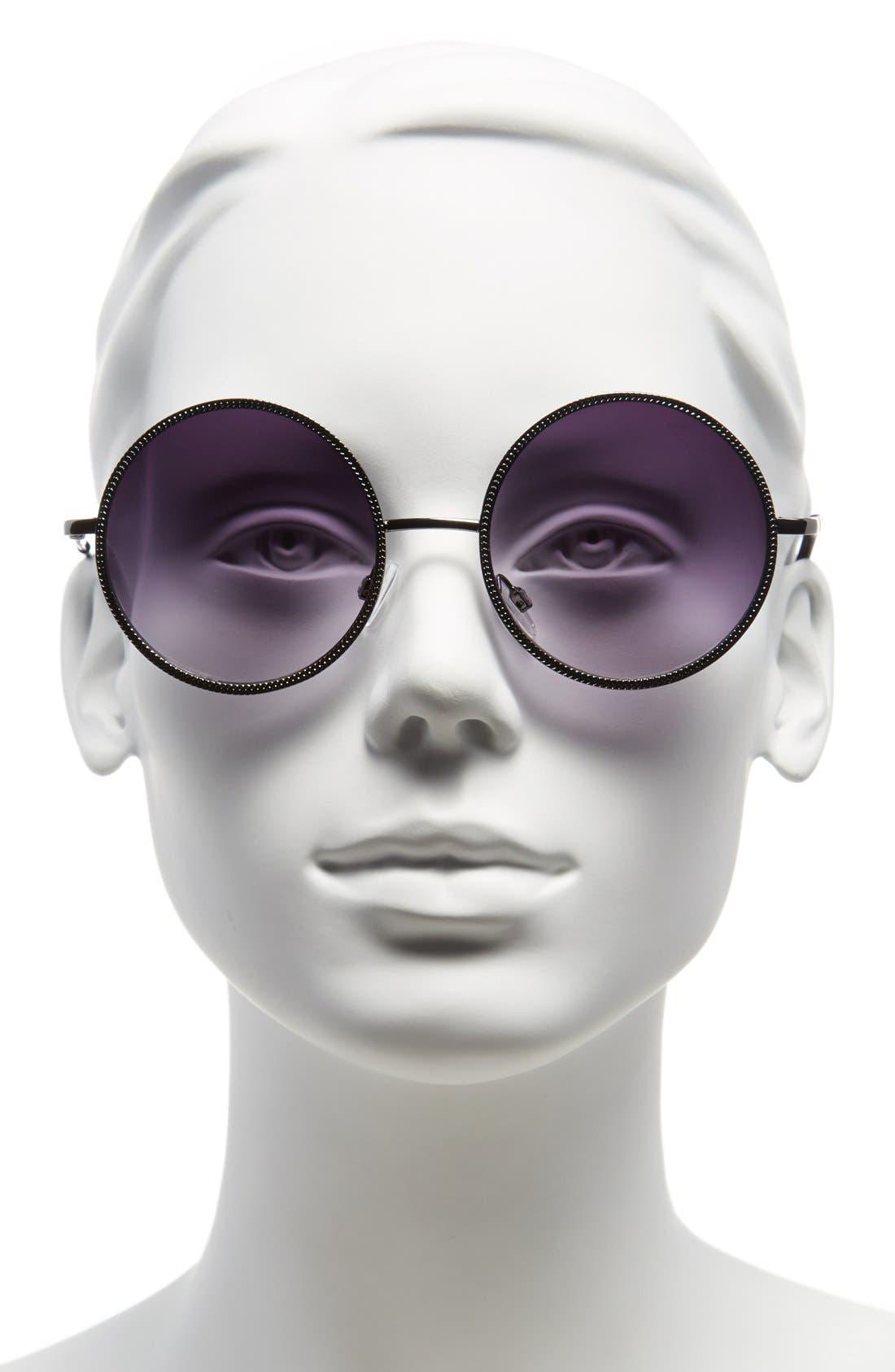 Alternate Image 2  - Steve Madden 54mm Round Sunglasses