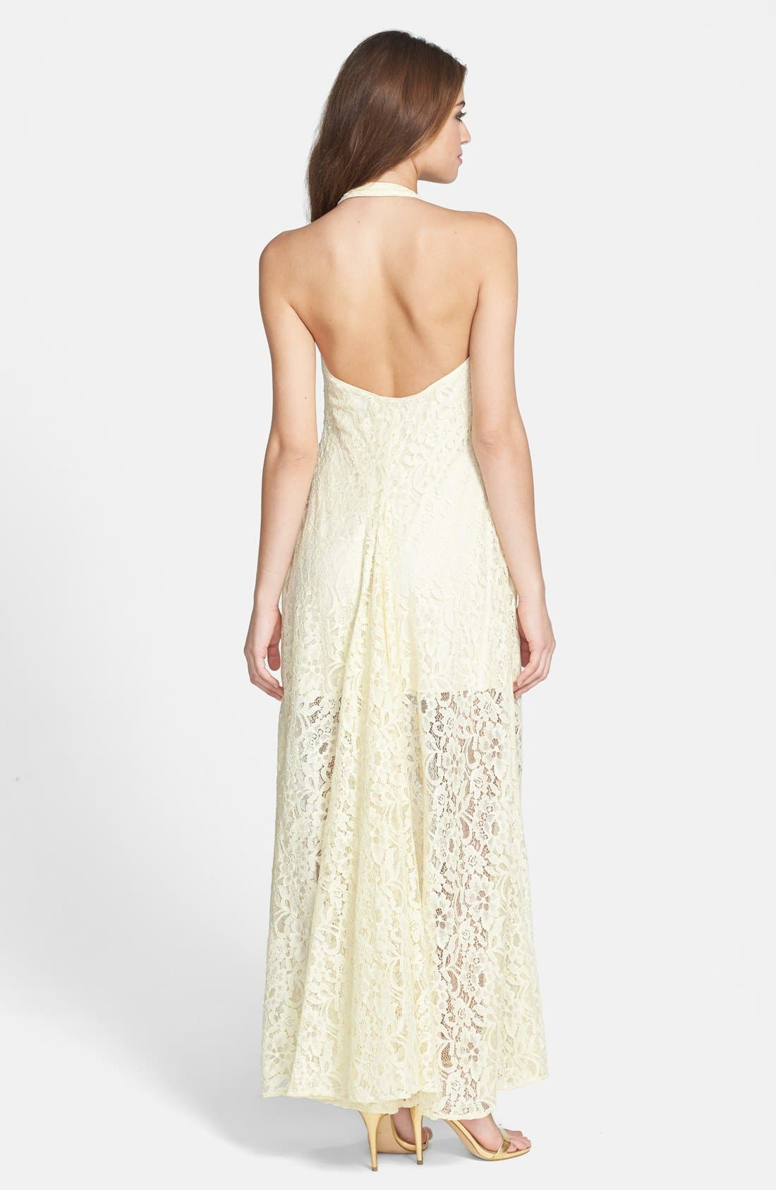 Alternate Image 2  - Jarlo 'Kate' Lace Halter Maxi Dress