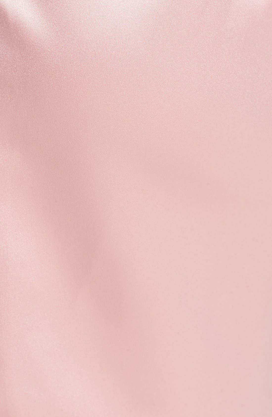 Alternate Image 4  - Dessy Collection Cross Draped Strapless Satin Sheath Dress