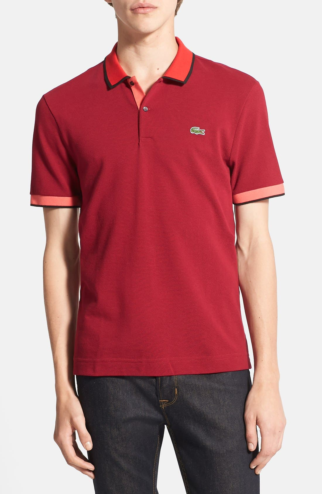 Alternate Image 1 Selected - Lacoste L!VE Contrast Trim Piqué Polo