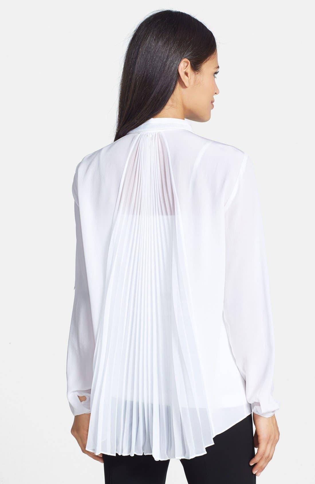 Alternate Image 2  - Elie Tahari 'Hayley' Pleat Back Silk Blouse