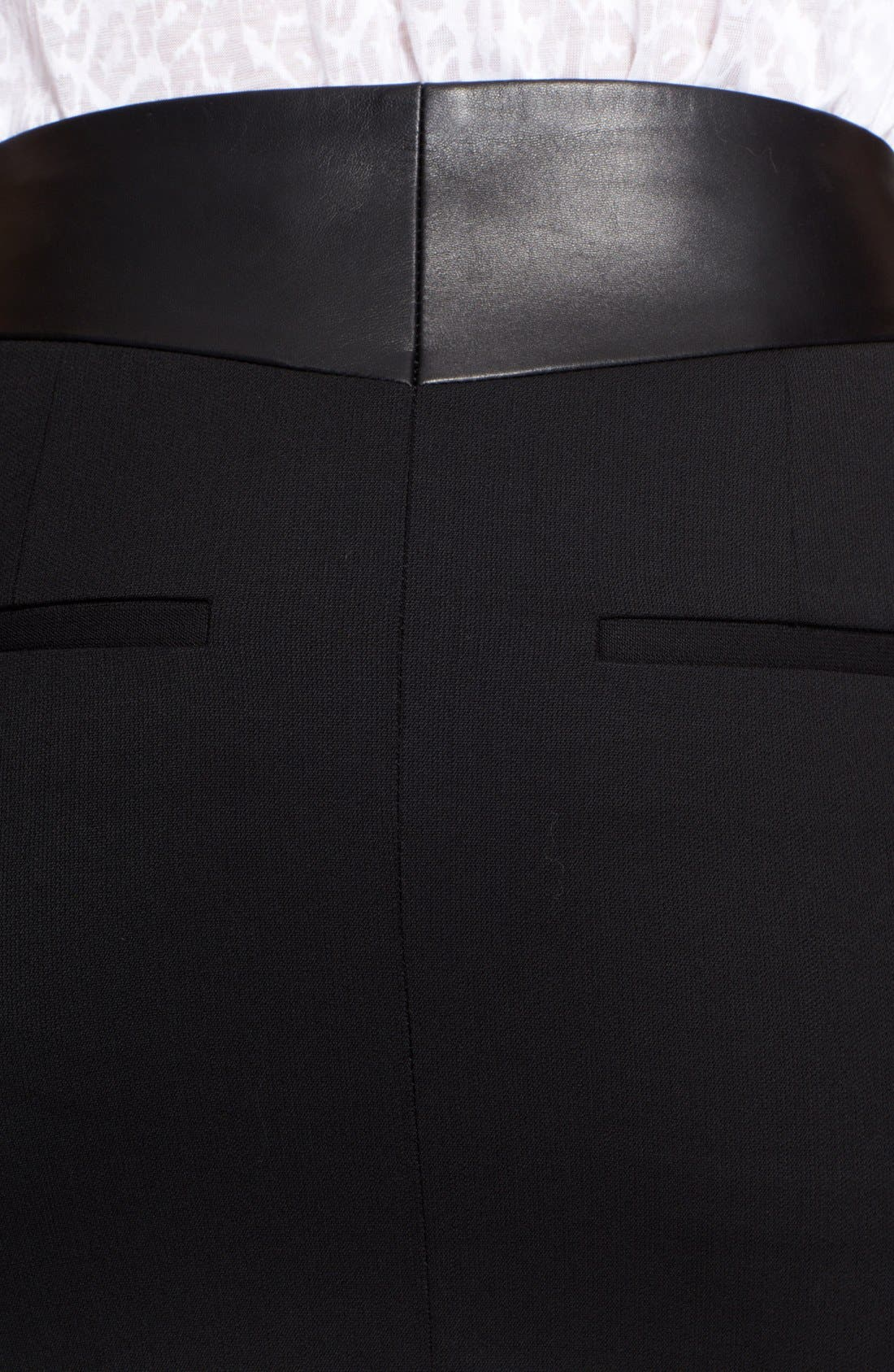 Alternate Image 3  - The Kooples Leather Yoke Zip Detail Miniskirt