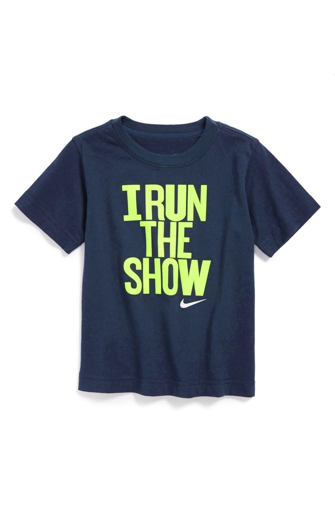 Alternate Image 1 Selected - Nike 'I Run The Show' Dri-FIT T-Shirt (Toddler Boys)