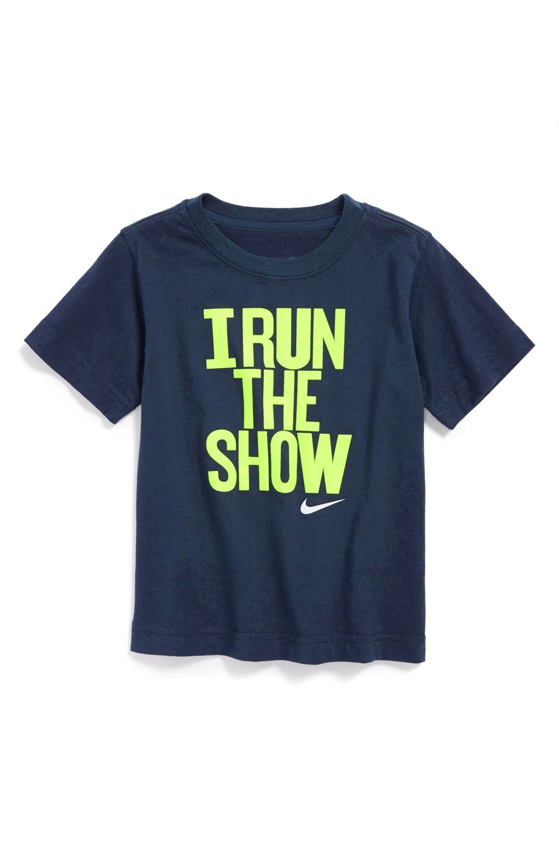 Main Image - Nike 'I Run The Show' Dri-FIT T-Shirt (Toddler Boys)