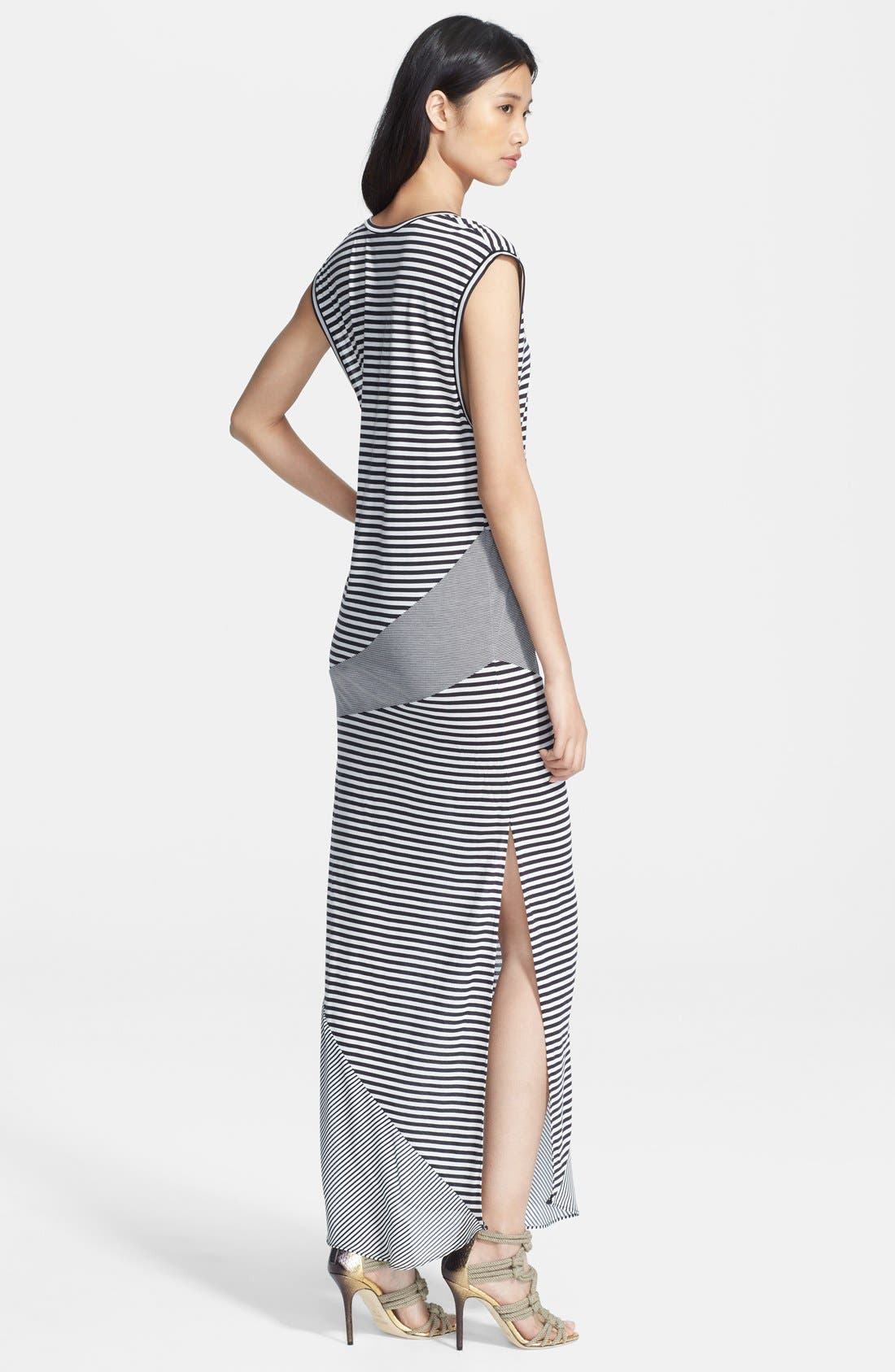 Alternate Image 2  - Haute Hippie Mixed Stripe Jersey Gown