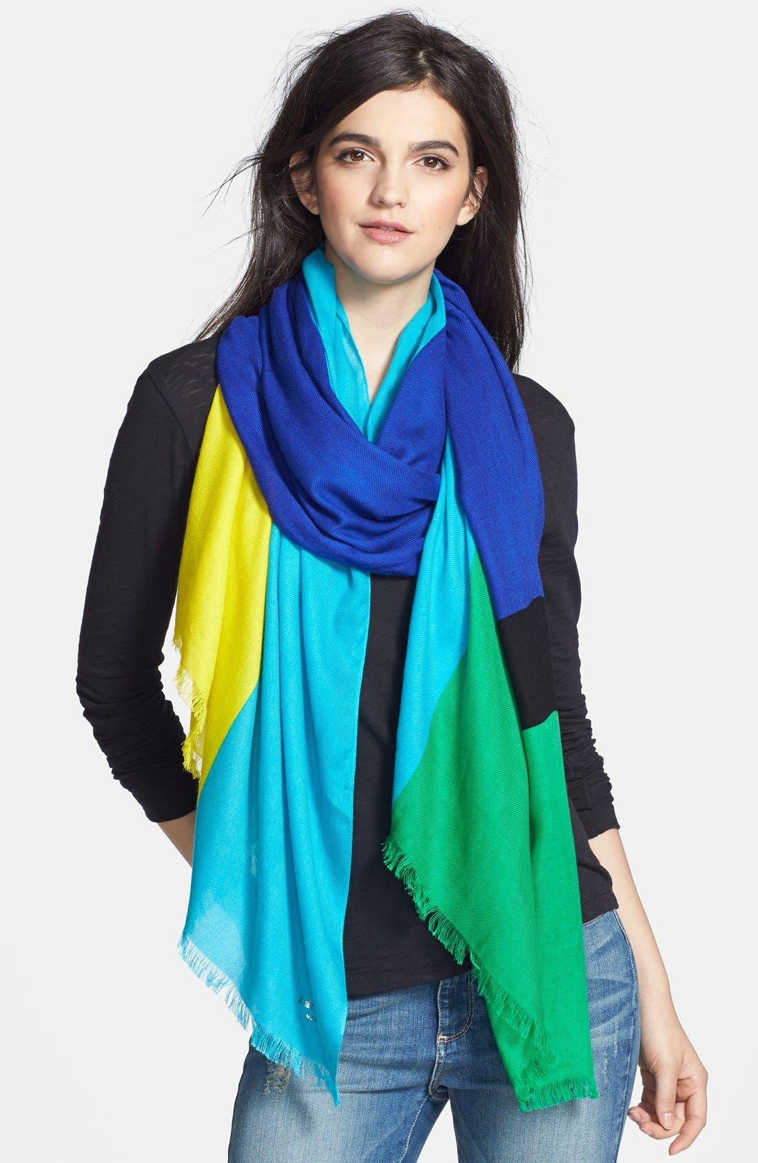 Alternate Image 1 Selected - kate spade new york colorblock scarf