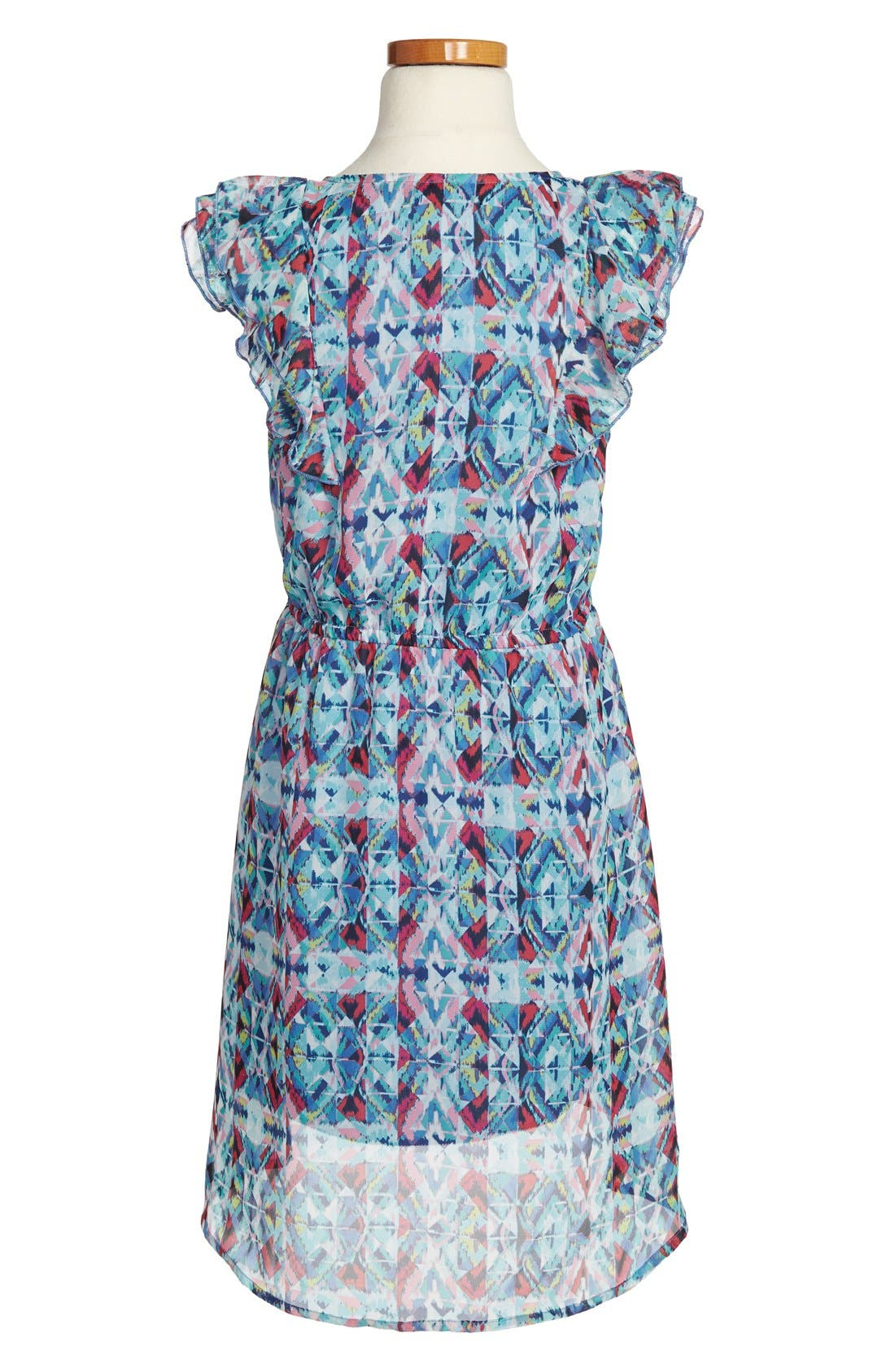 Alternate Image 2  - Fishbowl Sleeveless High/Low Dress (Big Girls)