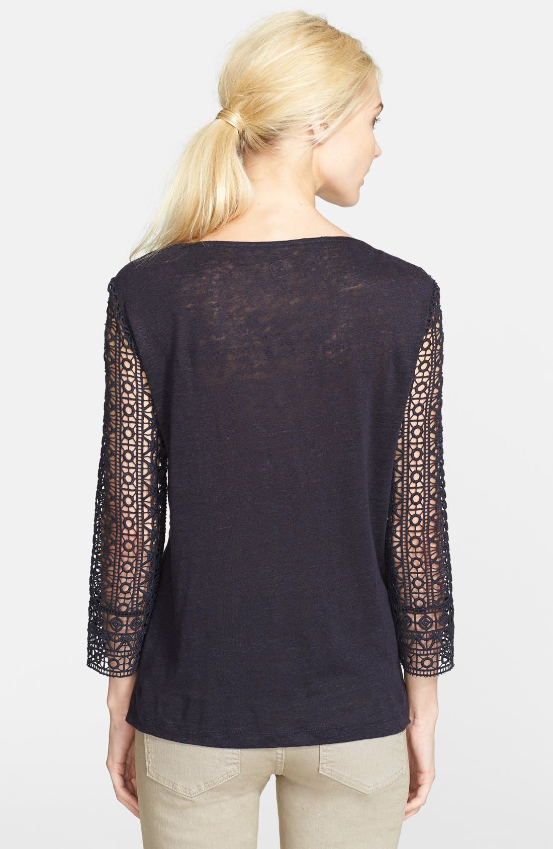 Alternate Image 2  - Tory Burch 'Harlow' Guipure Lace Tee
