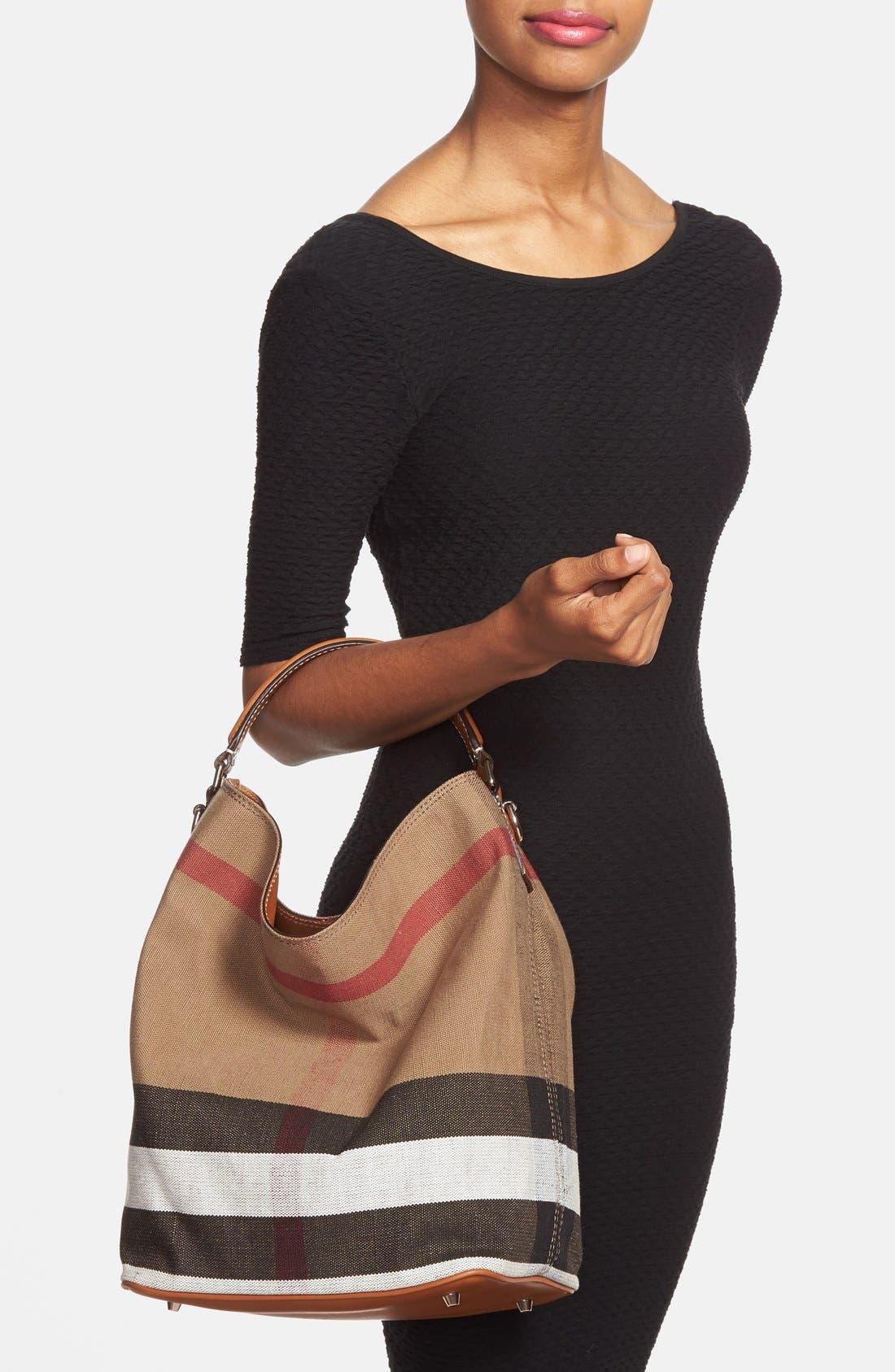 Alternate Image 2  - Burberry Medium Ashby Check Print Bucket Bag