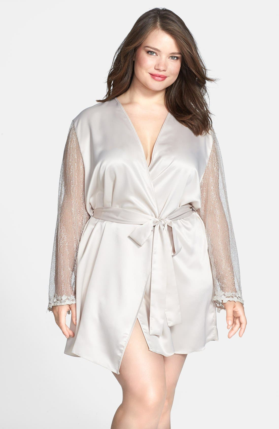 Alternate Image 1 Selected - Flora Nikrooz 'Showstopper' Robe (Plus Size)