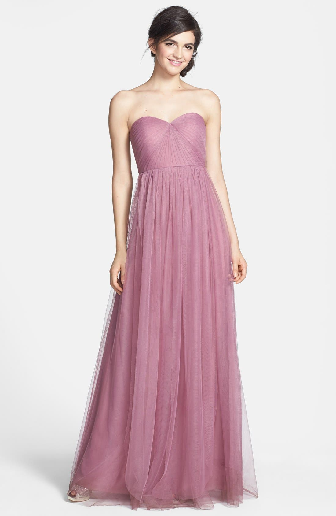 Alternate Image 1 Selected - Jenny Yoo 'Annabelle' Convertible Tulle Column Dress