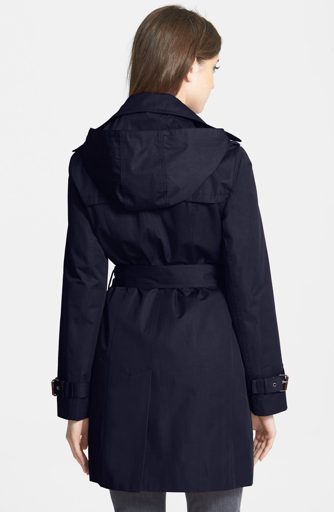 Alternate Image 2  - MICHAEL Michael Kors Trench Coat with Detachable Hood & Liner (Online Only)