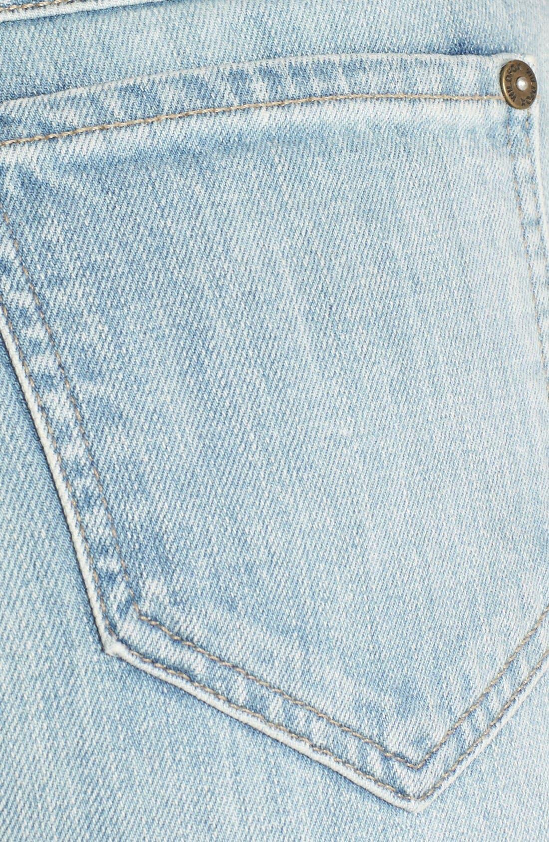 Alternate Image 3  - Wildfox 'Luca' High Rise Straight Leg Jeans (Faithful)