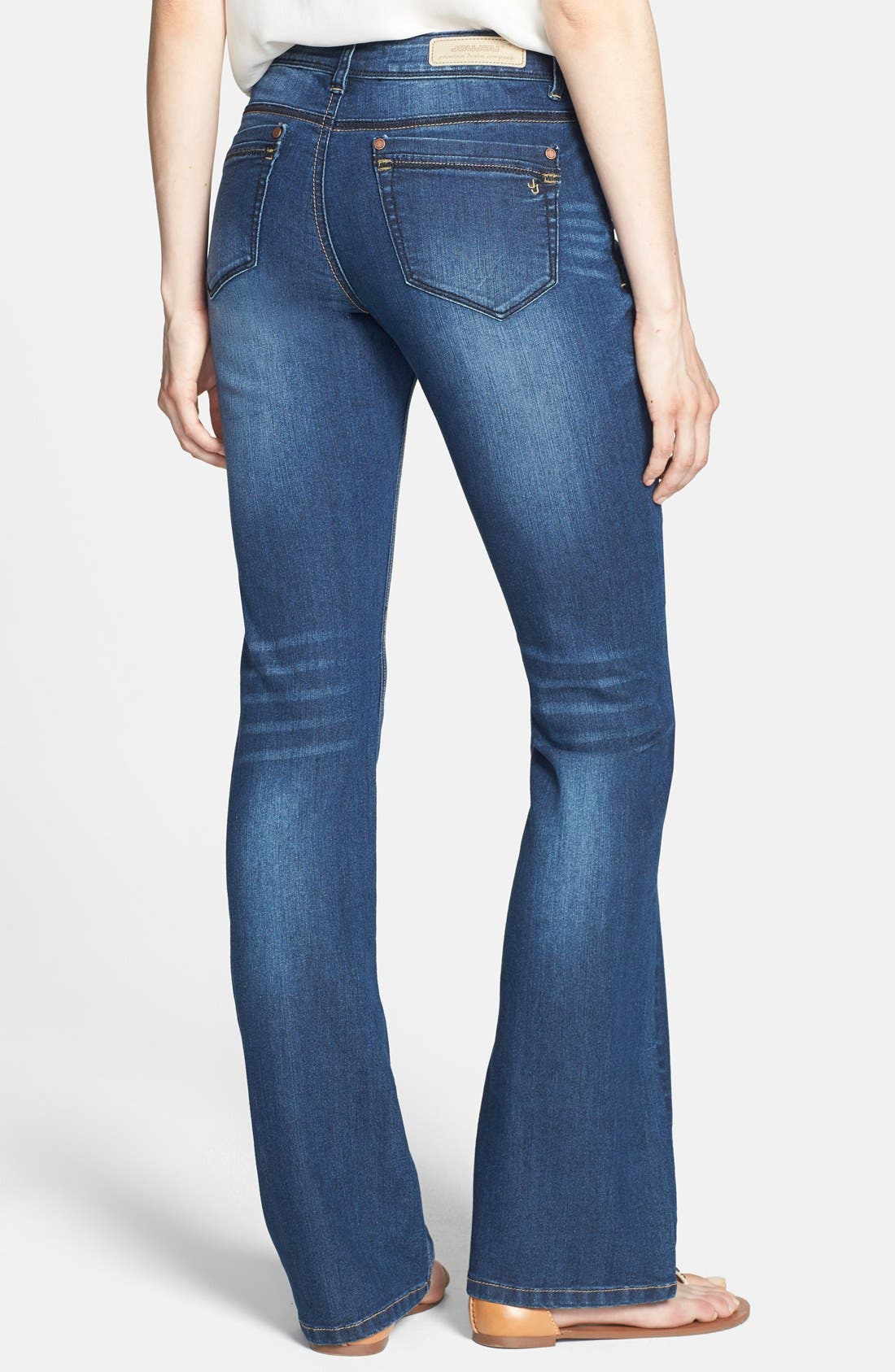 Alternate Image 2  - Jou Jou Mini Bootcut Jeans (Juniors)