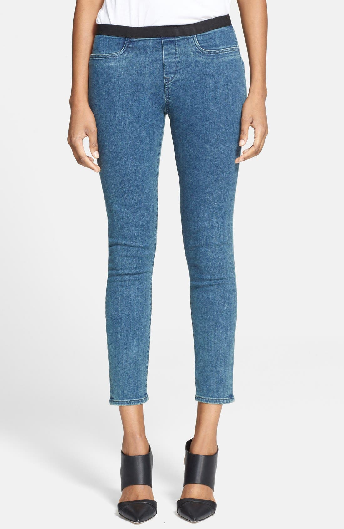 Alternate Image 1 Selected - Helmut Lang 'Halo' Crop Denim Leggings