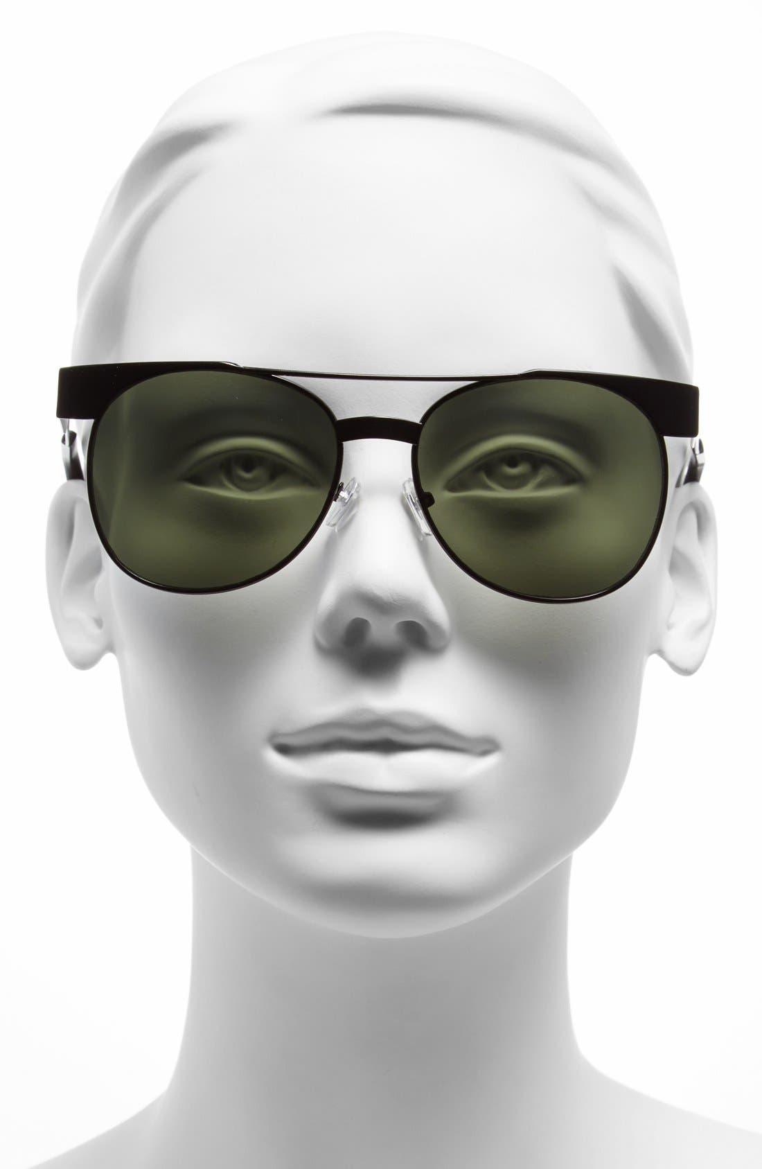 Alternate Image 2  - Steve Madden 54mm Aviator Sunglasses