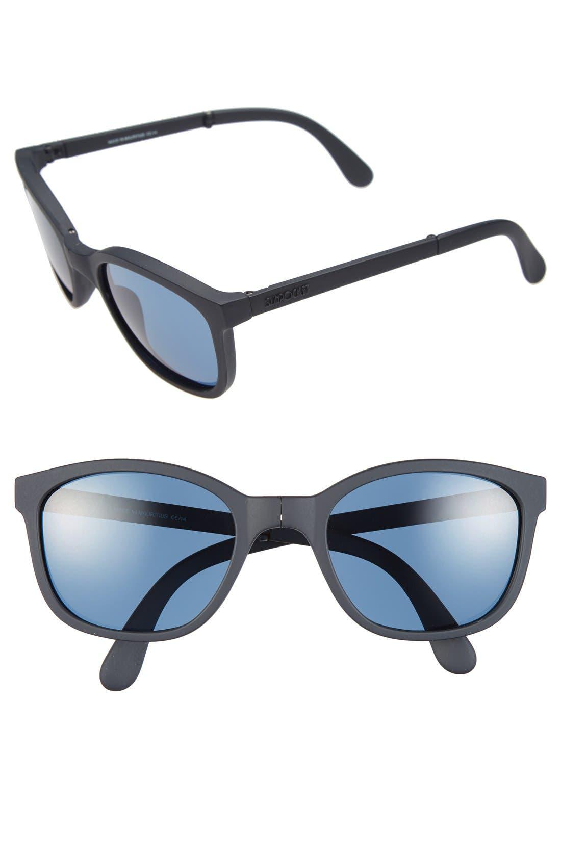 Main Image - Sunpocket 'Tonga' 53mm Folding Sunglasses