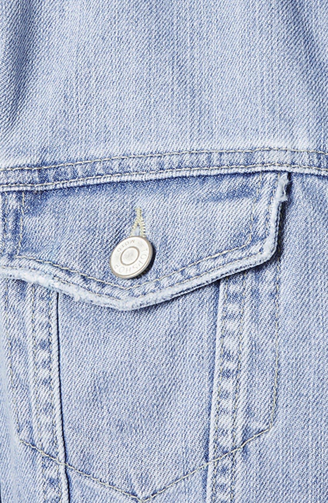 Alternate Image 4  - Topshop Moto Crop Denim Jacket