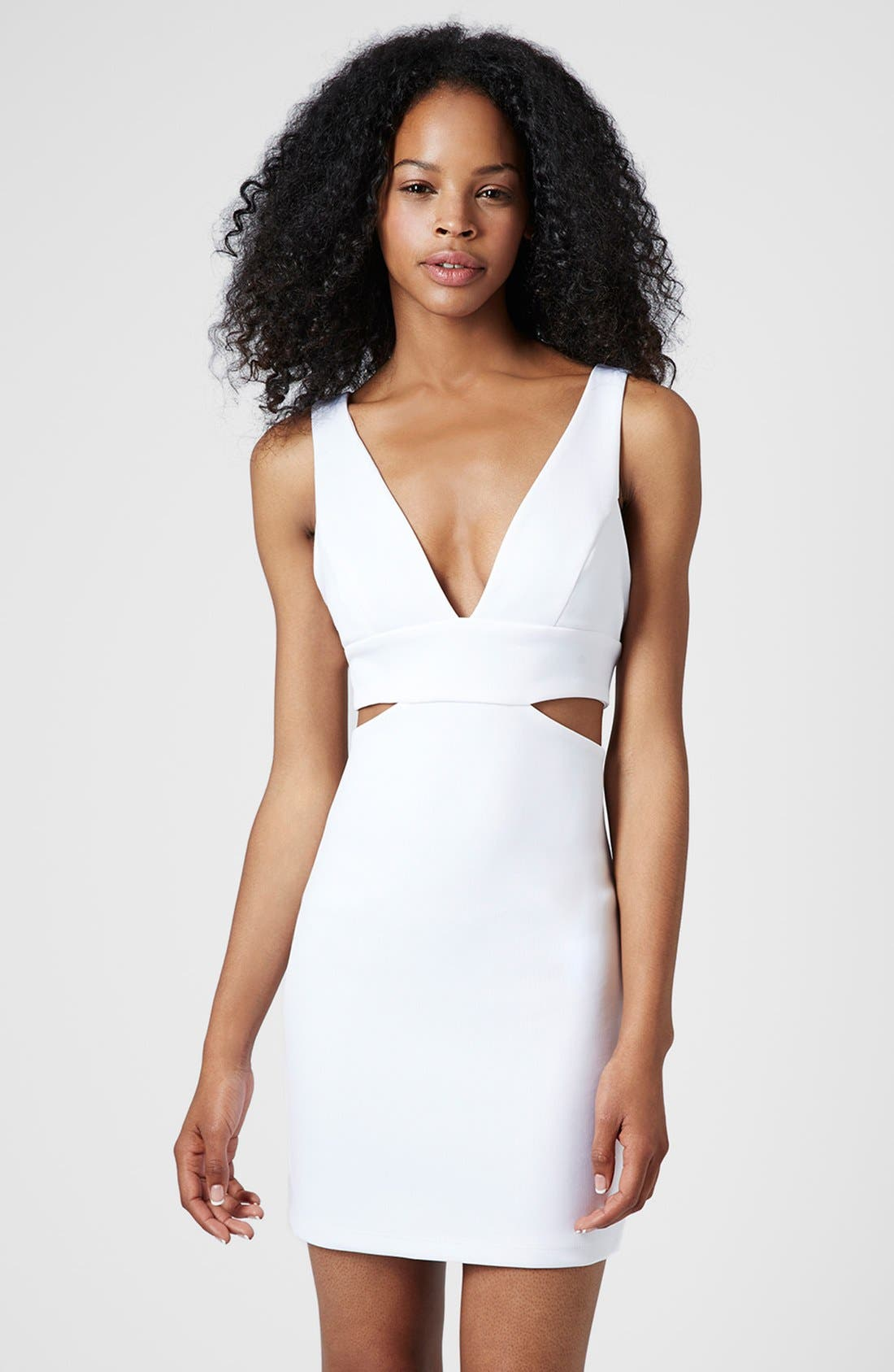 Main Image - Topshop Cutout Body-Con Dress (Regular & Petite)