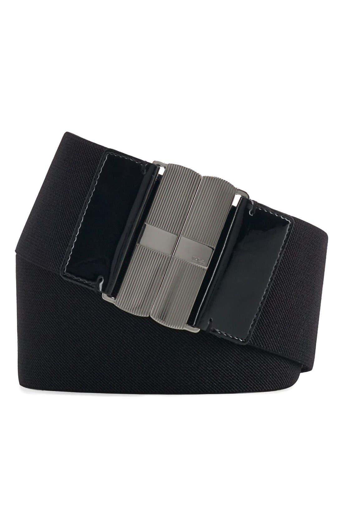 Alternate Image 1 Selected - Lauren Ralph Lauren Wide Elastic Belt