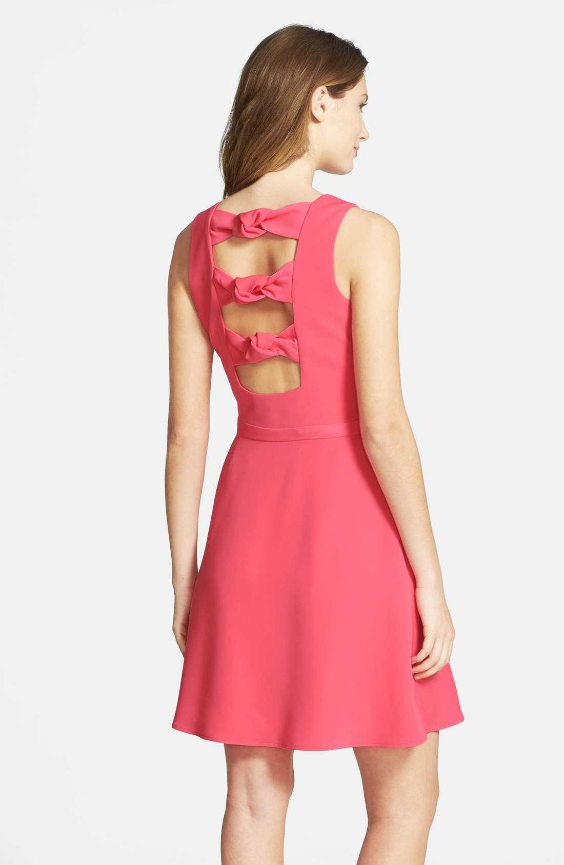 Alternate Image 2  - Cynthia Steffe Knot Back Crepe Fit & Flare Dress