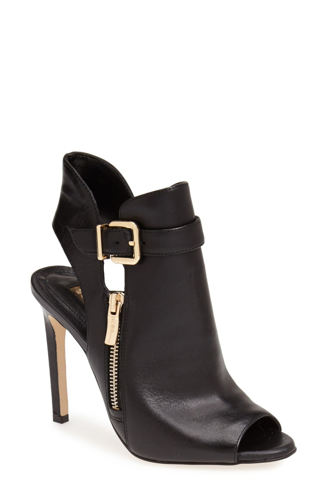 Alternate Image 1 Selected - BCBGeneration 'Chandler' Peep Toe Leather Bootie (Women)