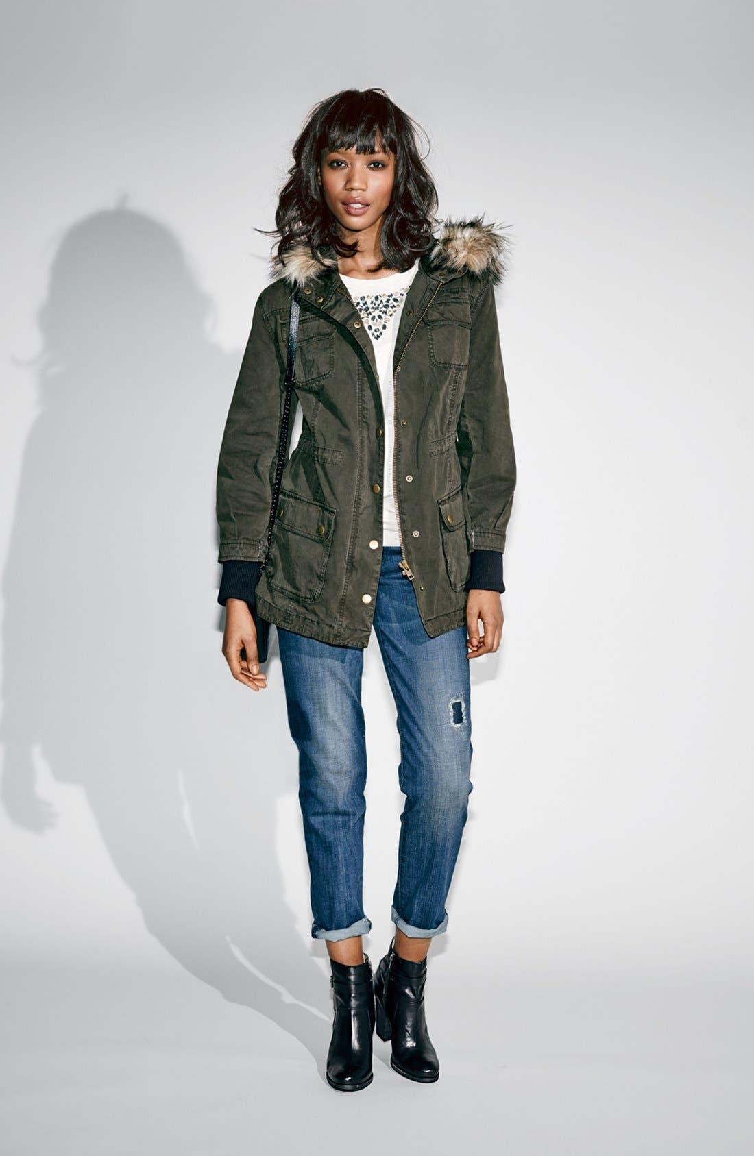 Alternate Image 10  - KUT from the Kloth 'Catherine' Destructed Slim Boyfriend Jeans (Dimple)