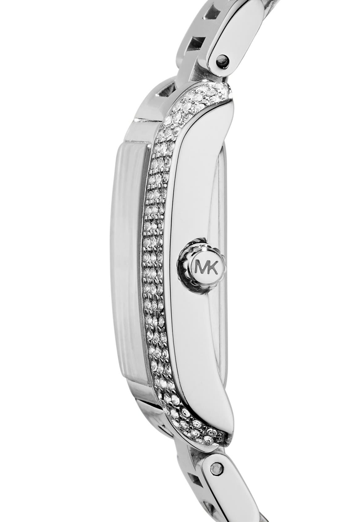 Alternate Image 3  - Michael Kors 'Petite Emery' Crystal Accent Bracelet Watch, 33mm