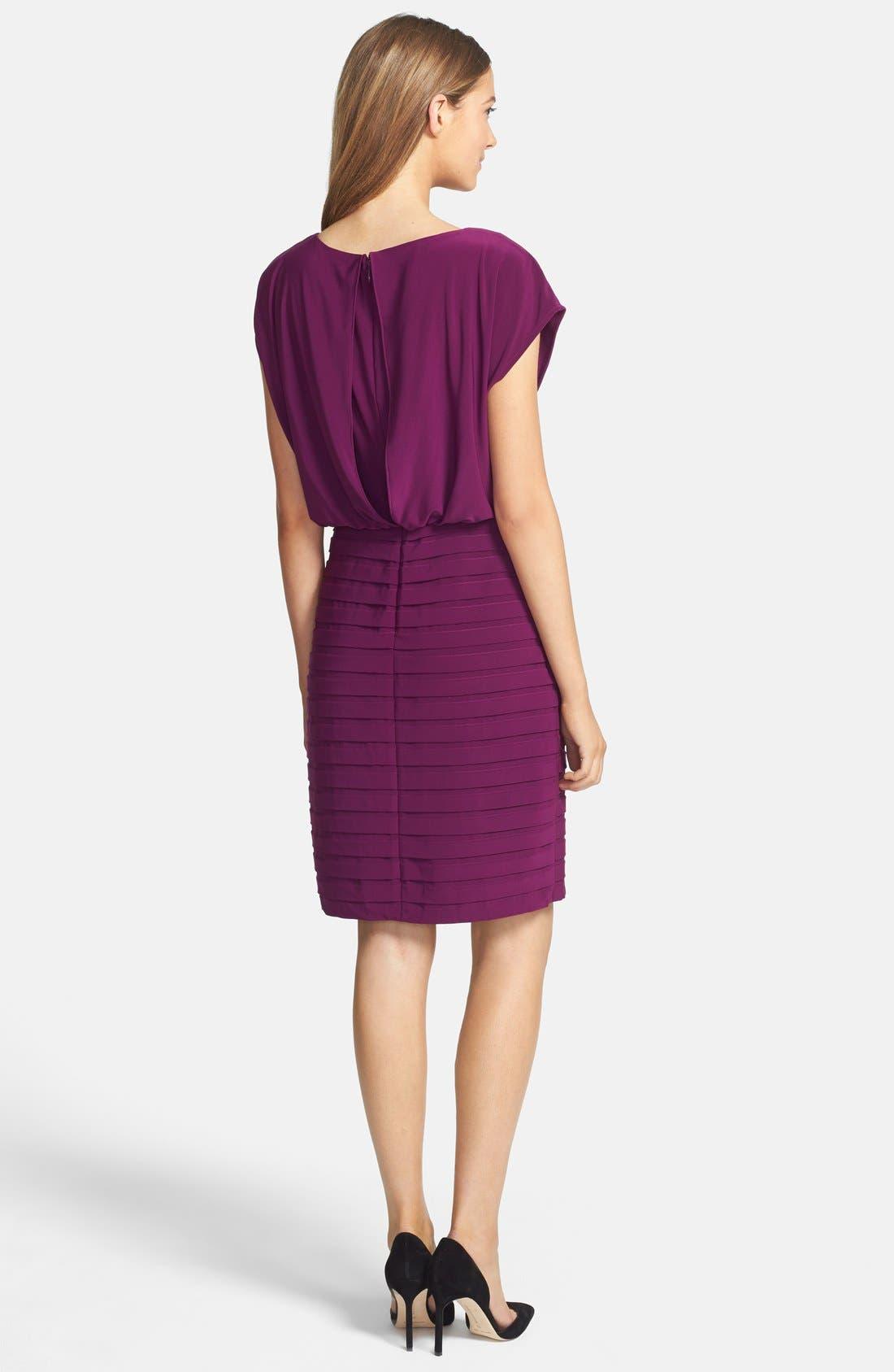 Alternate Image 2  - Adrianna Papell Pleated Jersey Blouson Dress
