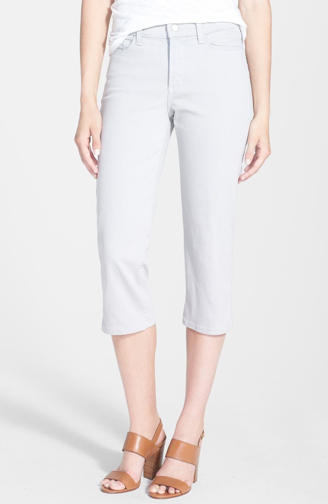 Alternate Image 1 Selected - NYDJ 'Hayden' Stretch Cotton Crop Pants (Regular & Petite)