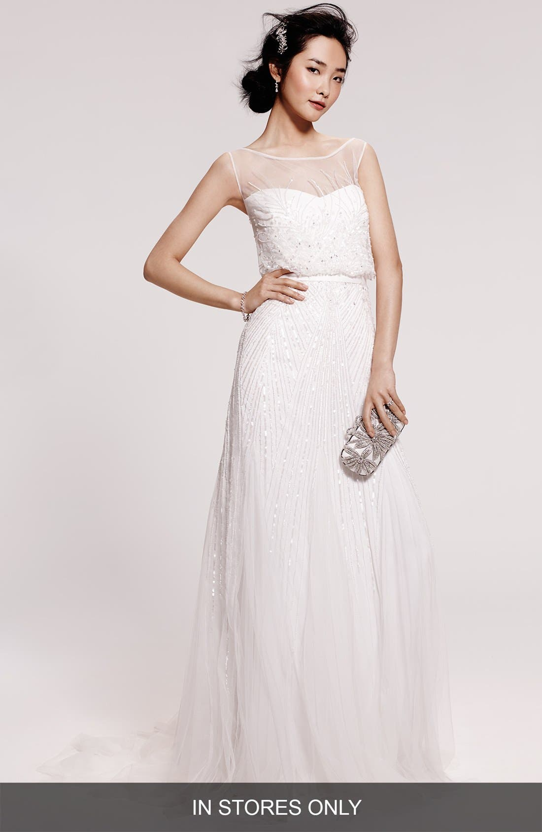Alternate Image 1 Selected - Rosa Clara 'Ugo' Beaded Sheath Gown (In Stores Only)
