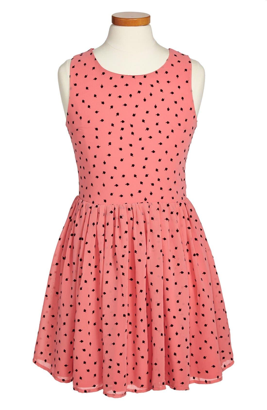 Alternate Image 1 Selected - Miss Behave 'Tulip' Chiffon Dress (Big Girls)