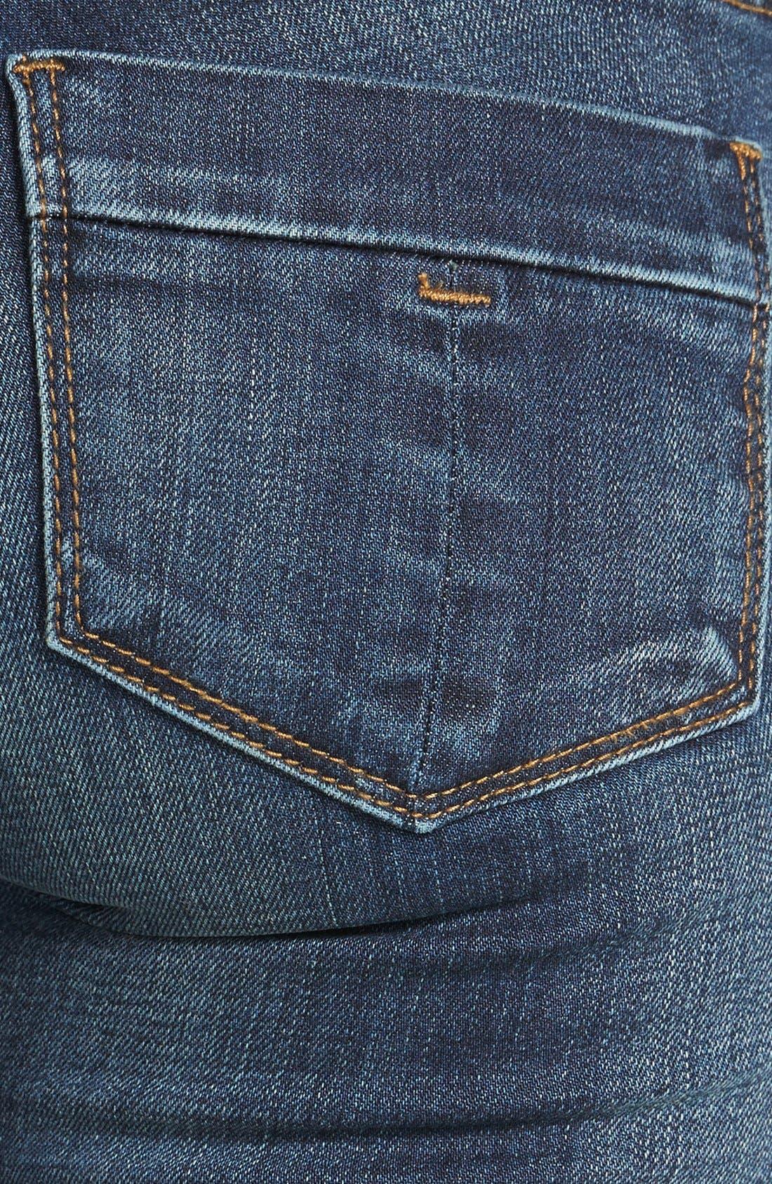 Alternate Image 5  - STS Blue Porkchop Pocket Skinny Jeans (Dark) (Juniors)