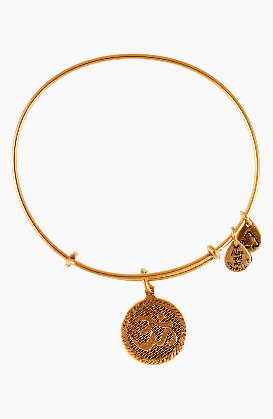 Alternate Image 1 Selected - Alex and Ani 'Om' Wire Bangle