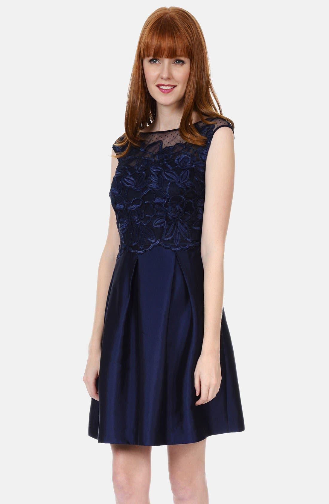 Alternate Image 1 Selected - Kay Unger Lace Bodice Dress