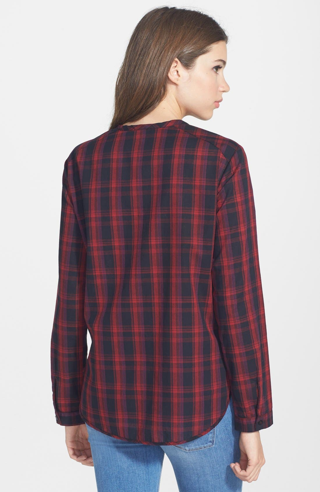 Alternate Image 2  - Ace Delivery Plaid Henley Shirt