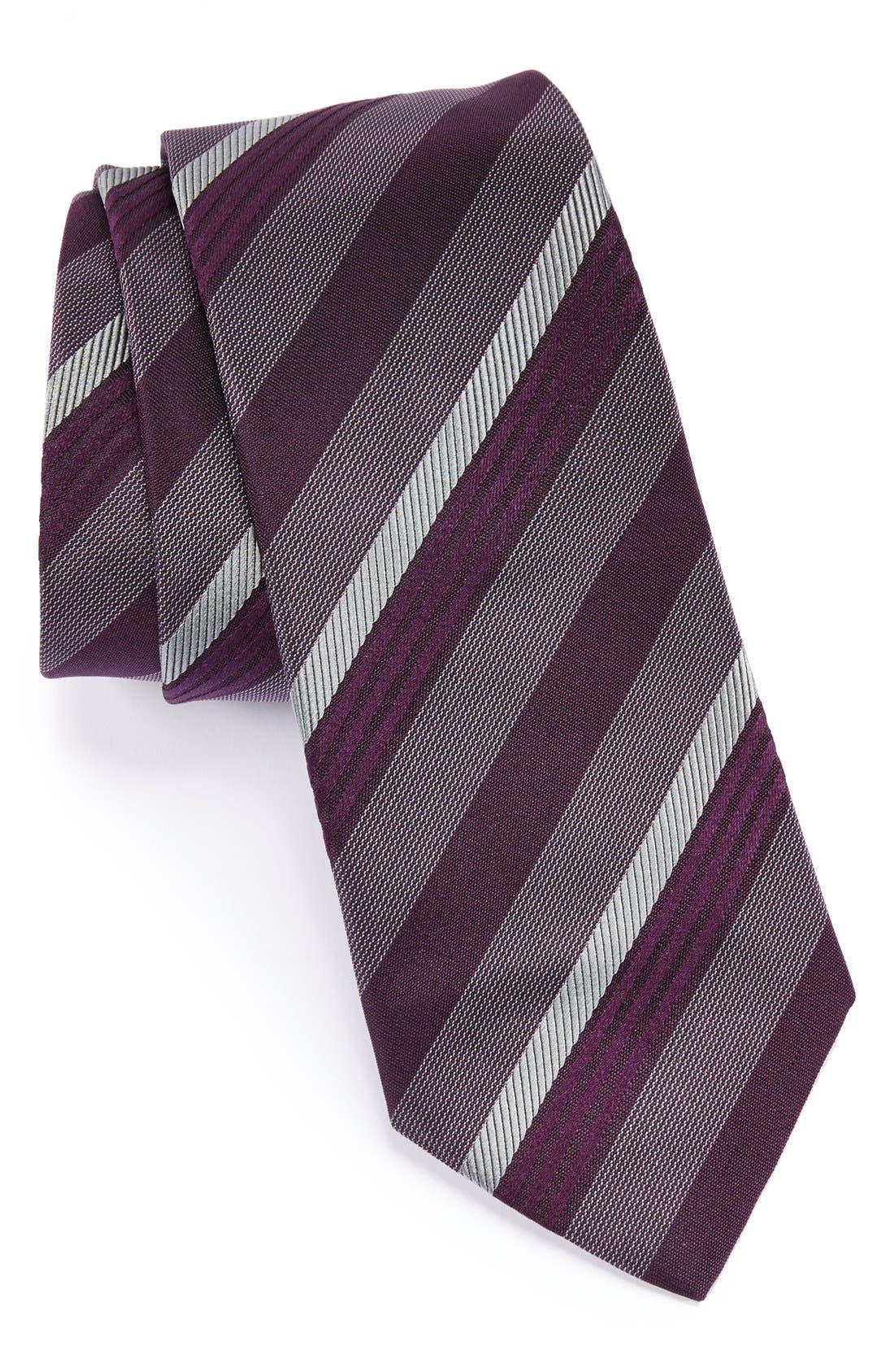 Main Image - Armani Collezioni Stripe Woven Silk Tie