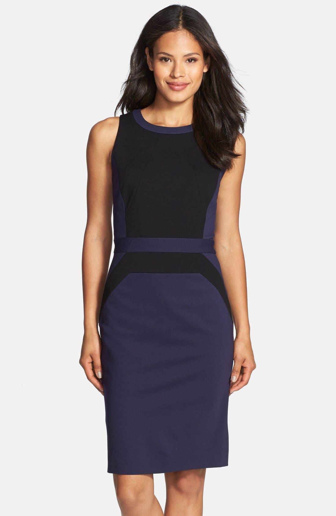 Alternate Image 2  - Classiques Entier® Italian Ponte Colorblock Dress
