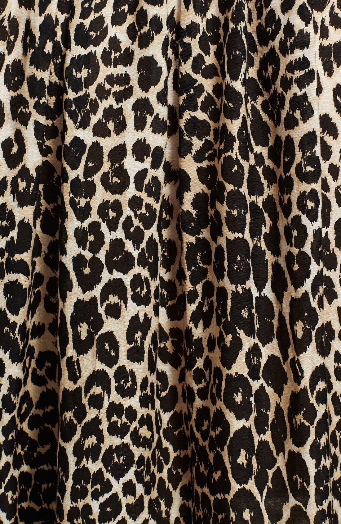 Alternate Image 3  - Tamara Mellon Leopard Print Peasant Top