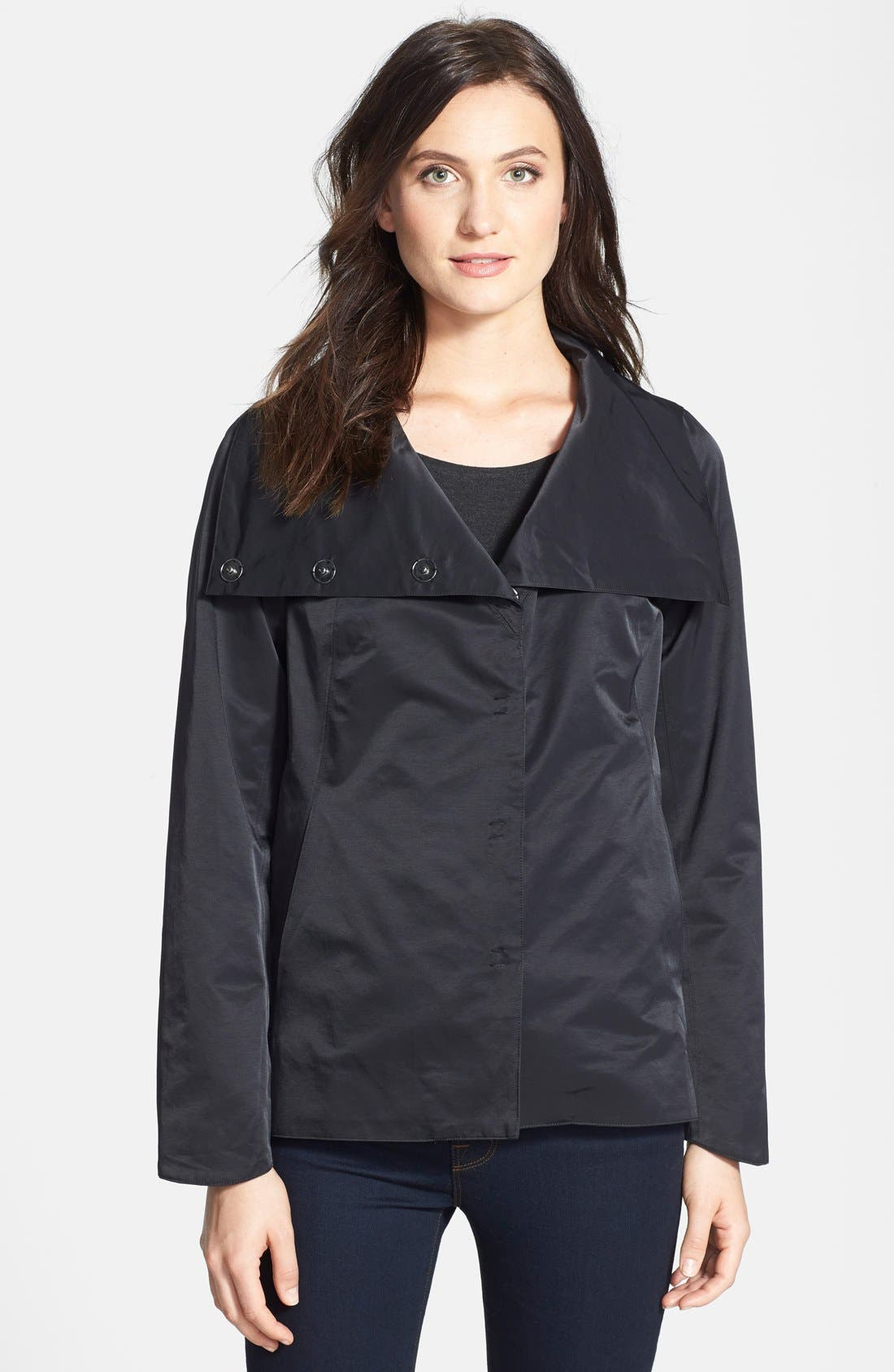 Alternate Image 1 Selected - Eileen Fisher Convertible Collar Asymmetrical Jacket