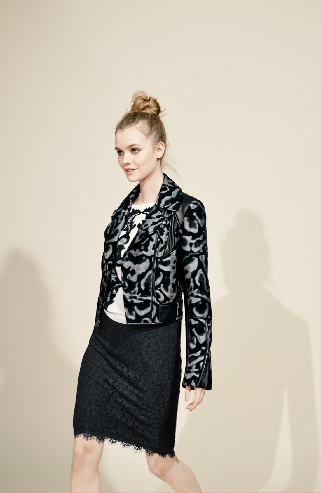 Alternate Image 5  - Diane von Furstenberg 'Theodora Leo' Leather Accent Jacket