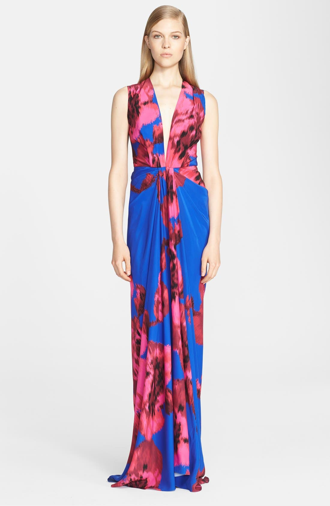 Alternate Image 1 Selected - Thakoon Print Silk Gown