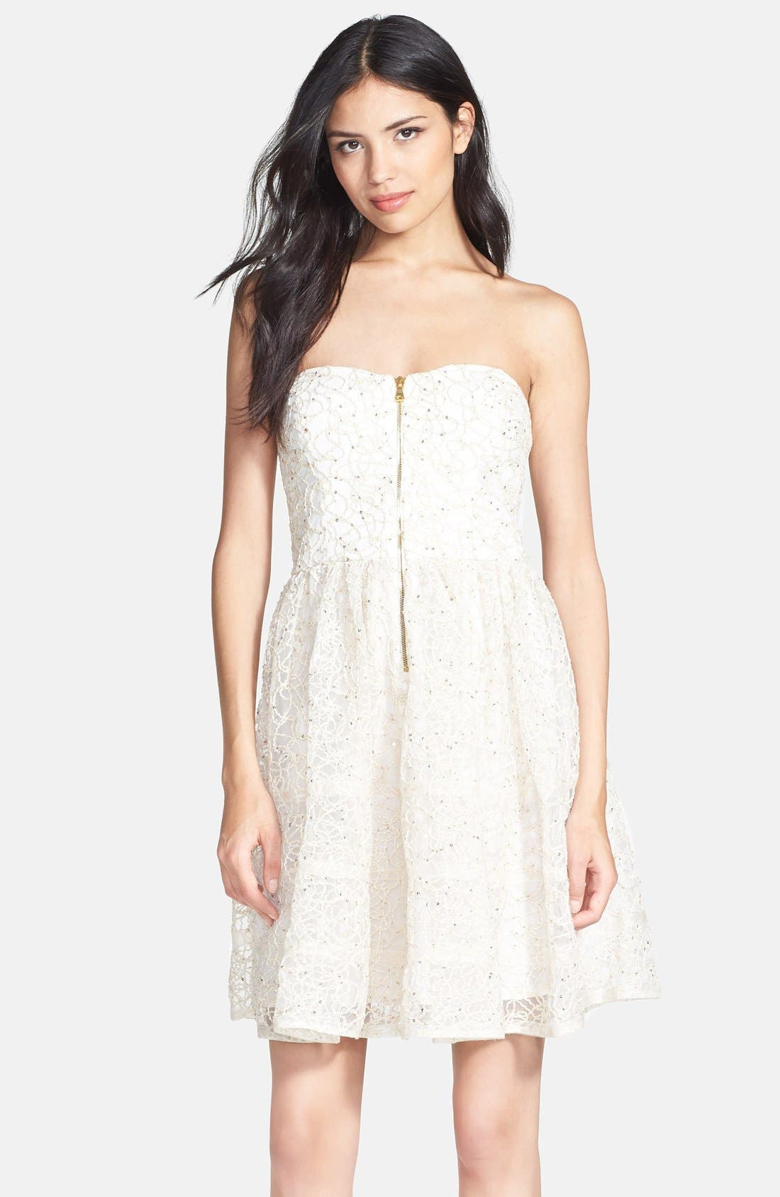 Main Image - Betsey Johnson Strapless Fit & Flare Dress