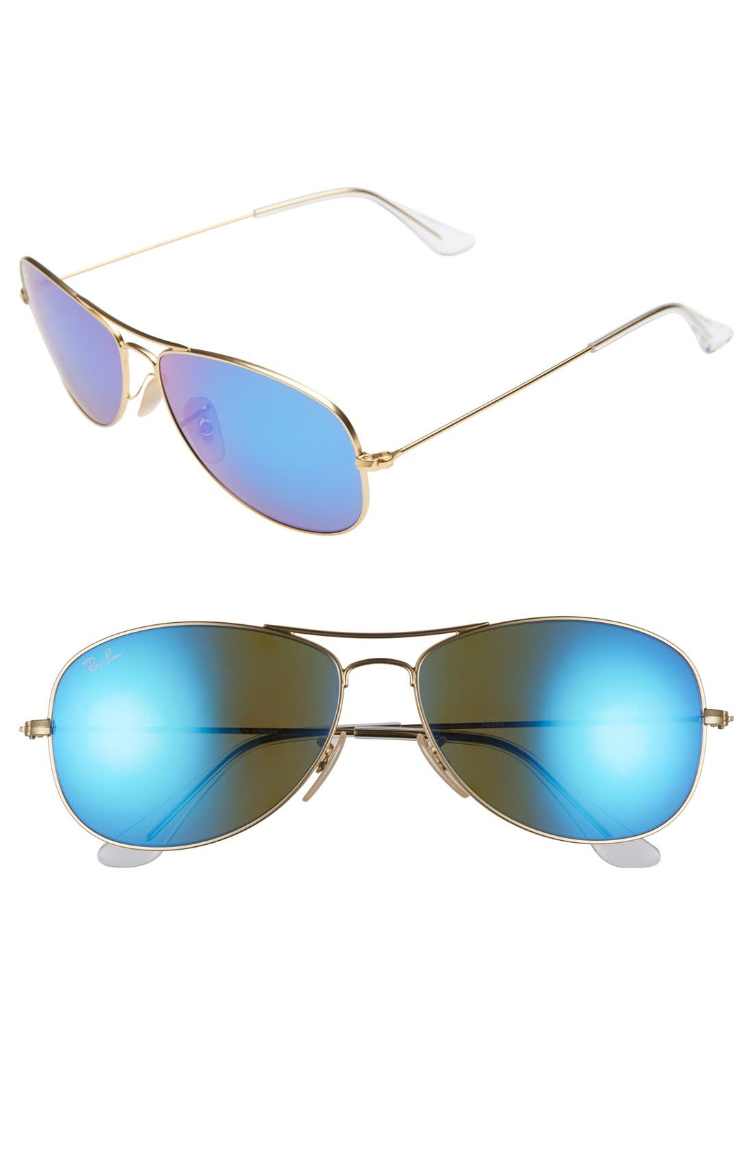 Alternate Image 1 Selected - Ray-Ban 'New Classic' 59mm Aviator Sunglasses