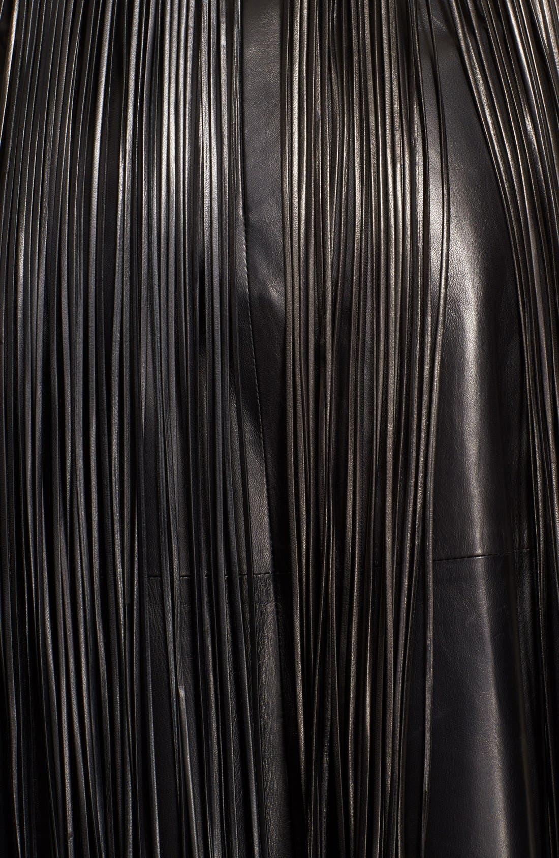 Alternate Image 4  - Valentino Leather Fringe Overlay