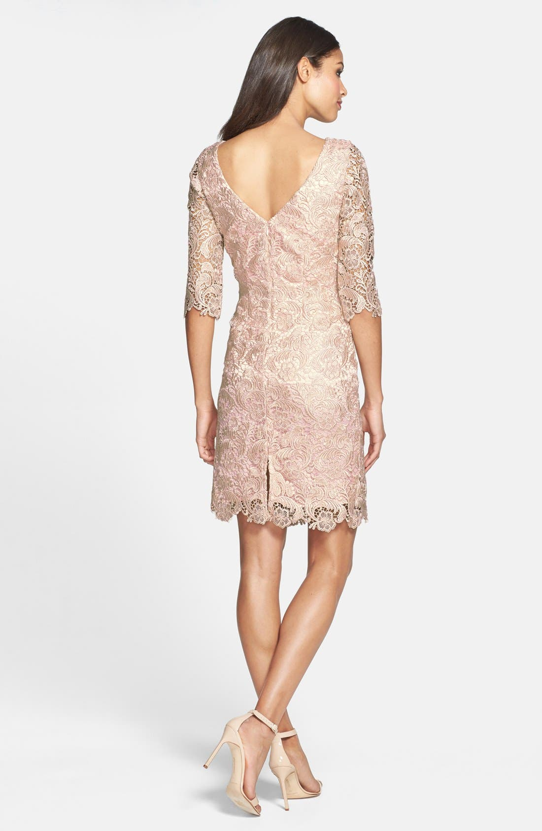 Alternate Image 2  - Eliza J Lace Sheath Dress