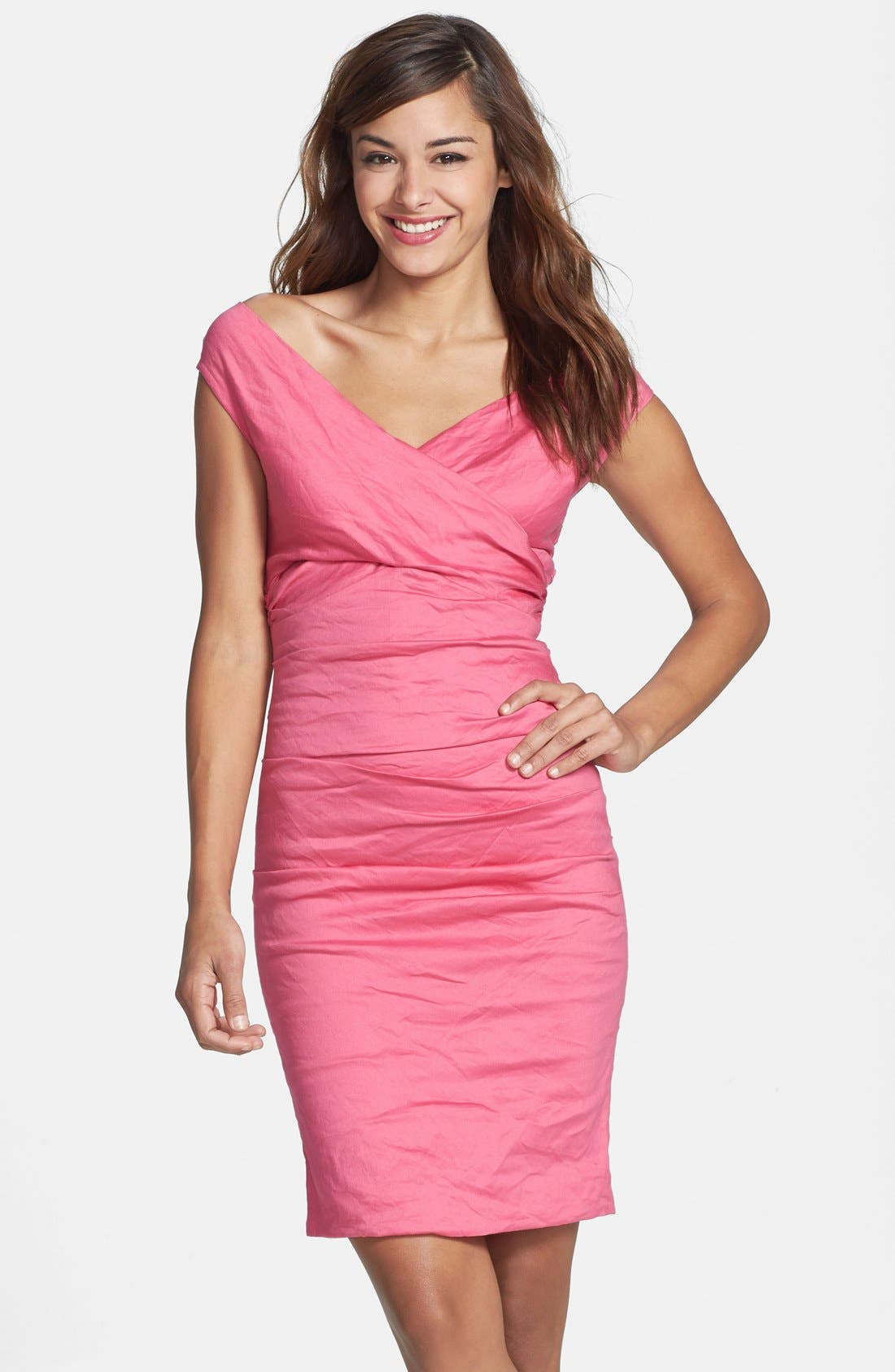 Alternate Image 1 Selected - Nicole Miller Stretch Cotton Sheath Dress